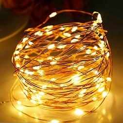 100 LEDs Copper Wire String Lights Fairy Lights Waterproof O