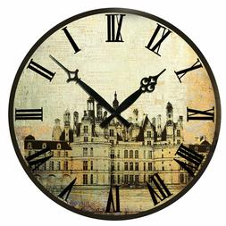 15 in Home Decor New Wall Clocks Village Room Kitchen Hangin