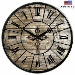 Large Wall Clock Room Home Decor Kitchen Living Watch Retro