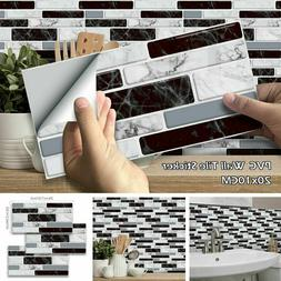 27/54x Self Adhesive Mosaic Brick Tile 3D Sticker Kitchen Ba