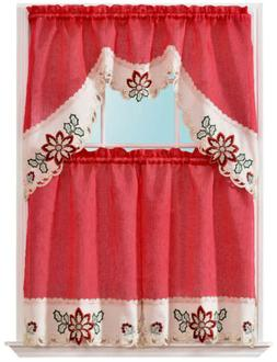 3-Piece Mary Floral Embroidered design Christmas Decor Kitch
