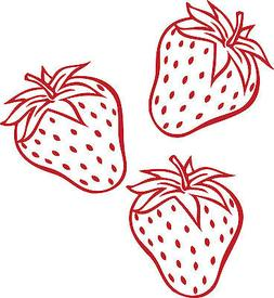 3 Strawberries Kitchen Cute Decor vinyl wall decal quote sti
