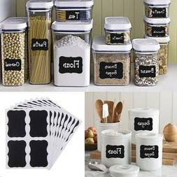 36Pcs Fancy Black Board <font><b>Kitchen</b></font> Jam Jar