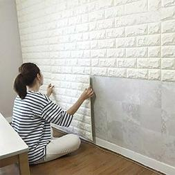 3D Brick Wall Stickers 20pcs/Home-Decor-Products, White