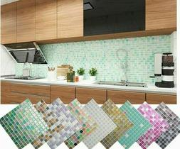 3D Effect Wall Mosaic Sticker Decal Self Adhesive Tile For K
