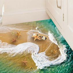 3d floor wall stickers beach removable mural