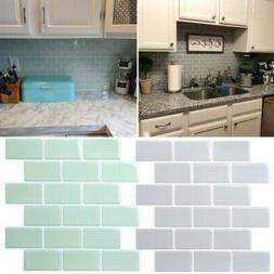 3D Self-adhesive Mosaic Tile Sticker Waterproof Kitchen Bath