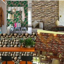 3d wall paper brick stone self adhesive