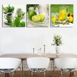 3PCS Canvas Print Photo Wall Art Painting Pictures Kitchen H