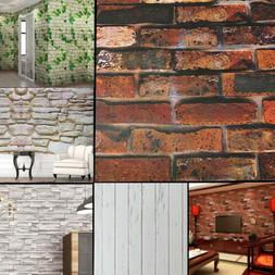 45CM*1000CM 3D Wallpaper Brick Pattern Self-adhesive Waterpr