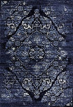 Persian Area Rugs Navy 4620 8X10 Distressed Area Rug Carpet