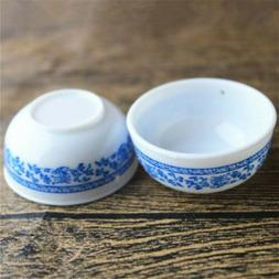 5pcs Dollhouse Miniature Plastic Round Rice Bowls Kitchenwar