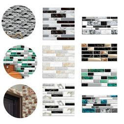 9Pc 10x20cm Self Adhesive Mosaic Wall Stickers Tile Paper Ba