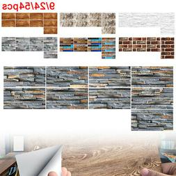 9pcs 3D Self Adhesive Mosaic Tile Sticker Kitchen Bathroom W