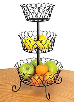 Carol Wright Gifts 3-Tier Wire Basket