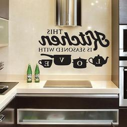 Creative KITCHEN Wall Sticker Vinyl Removable Decal Art Mura