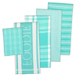 DII Assorted Decorative Kitchen Dish Towels & Dish Cloth Foo