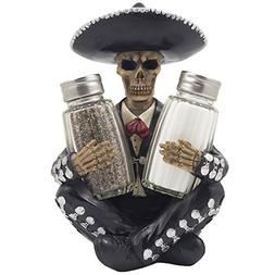 Dia de Los Muertos Mariachi Skeleton Salt and Pepper Shaker