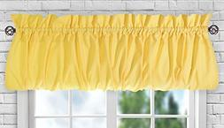 "Ellis Curtain Stacey Sheer Balloon Valance, 60"" x 15"", Yello"