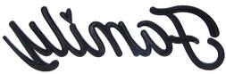 Family Word Art Sign Home Kitchen Decor Wall Hanging Cursive