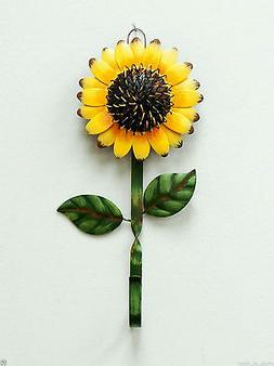 Grace Home Metal Sunflower Hook Wall Kitchen Keys Coats Util