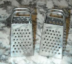Lot of 2 Stainless Steel  Mini Cheese Grater Collectible Kit
