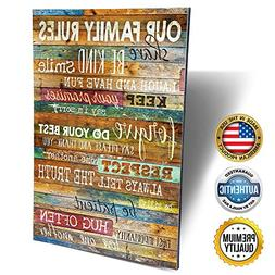 Marla Rae 12-Inch-by-18-Inch Country Wood Our Family Rules W