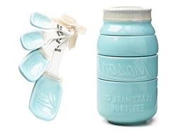 Mason Jar Ceramic Measuring Set: Cups and Spoons by World Ma