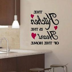 Removable Quote Word Vinyl DIY Kitchen Home Room Art Wall St