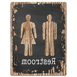 Restroom Chic Sign Rustic Vintage Chalkboard style Retro Kit
