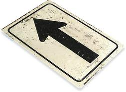 TIN SIGN Arrow Street Metal Décor Wall Art Kitchen Shop Cav