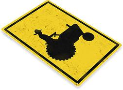 """TIN SIGN """"Tractor Crossing"""" Metal Decor Art Kitchen Cottage"""