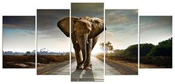Wieco Art Elephant Canvas Prints Wall Art Animals Pictures t