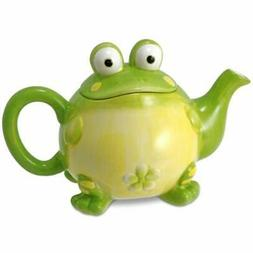 Adorable Teapots Toby The Toad/Frog For Kitchen Decor, Green
