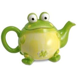 Adorable Toby the Toad/Frog Teapot For Kitchen Decor, Green,