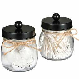 Apothecary Jars Set,Mason Jar Decor Bathroom Vanity Storage