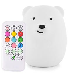 LumiPets Cute Animal Silicone Baby Night Light with Touch Se