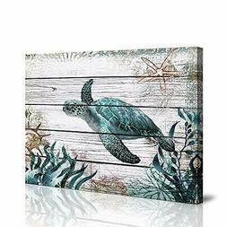 Bathroom wall Decor ocean Sea wall art green Turtle Pictures