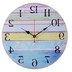 Old Oak 16-Inch Large Beach Wall Clock Decorative Silent Non
