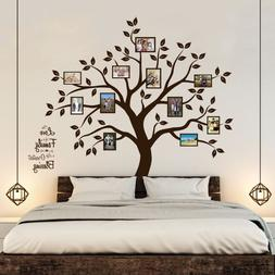 Timber Artbox Beautiful Family Tree Wall Decal with Quote -