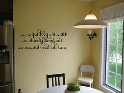 BLESS THE FOOD BEFORE US HOME VINYL WALL DECOR DECAL KITCHEN