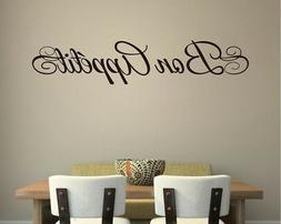 BON APPETIT Kitchen Cafe Home Wall Art Decal Quote Decor Wor