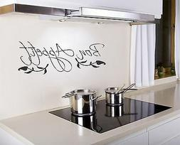 Bon Appetit Wall Decal removable kitchen sticker art decor q