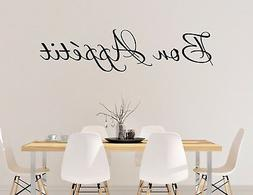 BON APPETIT wall vinyl sticker decal kitchen decor cook art