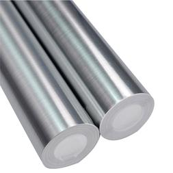 Brushed Silver Decorative Film PVC Vinyl Self adhesive Wallp