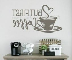 But First Coffee Wall Quote Kitchen Decor Vinyl Art Decal St