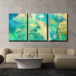 wall26 - 3 Piece Canvas Wall Art - Art Abstract Painted Back