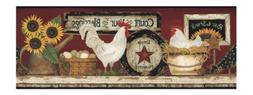 York Wallcoverings CB5538BD Hen And Rooster Farm Wallpaper B