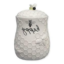 Ceramic Bee Treat Jar : Bee Themed Kitchen Home Decorations