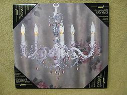 Chandelier Lighted Canvas Wall Decor Sign Dining Room Kitche